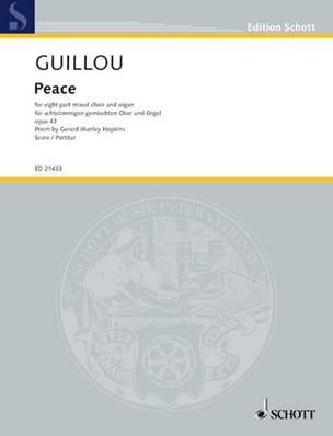 Peace Jean Guillou Partition Chœur - laflutedepan