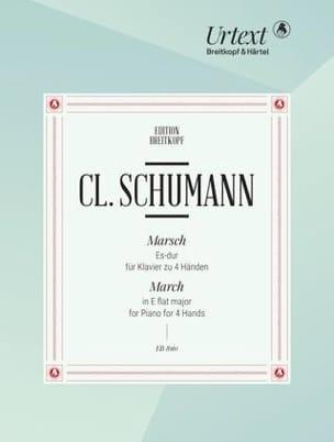 Marche En Mi Bémol Majeur. 4 Mains Clara Schumann laflutedepan