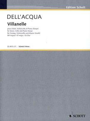 Villanelle. Acqua Eva Dell' Partition Violoncelle - laflutedepan