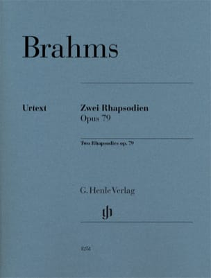 2 Rhapsodies op. 79 BRAHMS Partition Piano - laflutedepan
