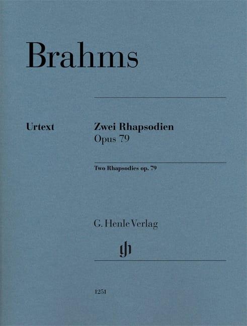 2 Rhapsodies op. 79 - BRAHMS - Partition - Piano - laflutedepan.com