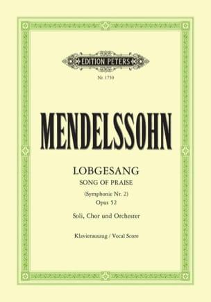 Lobgesang Opus 52 MENDELSSOHN Partition Chœur - laflutedepan
