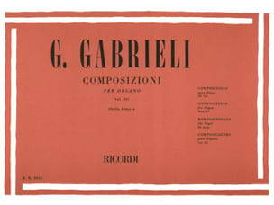 Oeuvres pour Orgue Volume 3. GABRIELI Partition Orgue - laflutedepan