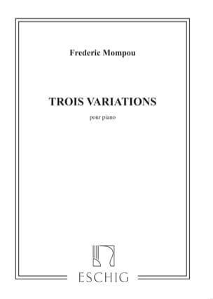 3 Variations Federico Mompou Partition Piano - laflutedepan