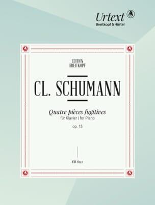 4 Pièces Fugitives Opus 15 Clara Schumann Partition laflutedepan