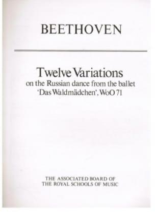 12 Variations Woo 71 - BEETHOVEN - Partition - laflutedepan.com