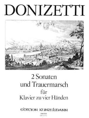 2 Sonates et Trauermarsch. 4 Mains DONIZETTI Partition laflutedepan