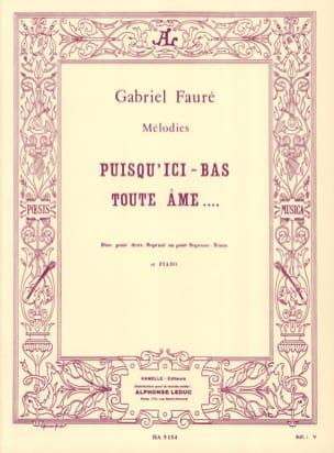 Puisqu'ici Bas Toute Ame Opus 10 FAURÉ Partition Duos - laflutedepan