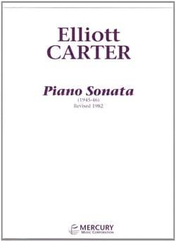 Piano Sonata Elliott Carter Partition Piano - laflutedepan