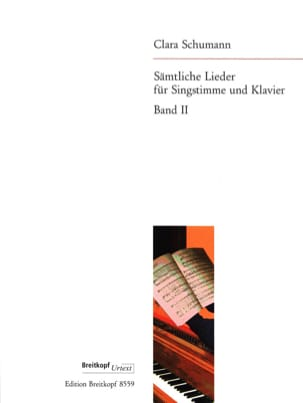 Sämtliche Lieder Volume 2 Clara Schumann Partition laflutedepan