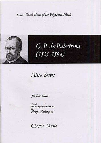 Missa Brevis - PALESTRINA - Partition - Chœur - laflutedepan.com