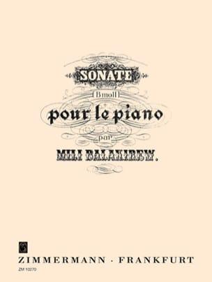 Sonate En Si Bémol Mineur Mili Balakirev Partition laflutedepan