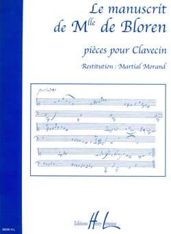 Le Manuscrit de Melle de Bloren Partition Clavecin - laflutedepan