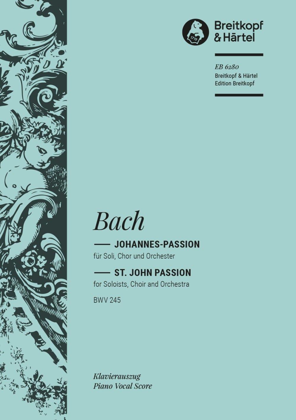 Passion Selon Saint Jean BWV 245 - BACH - Partition - laflutedepan.com