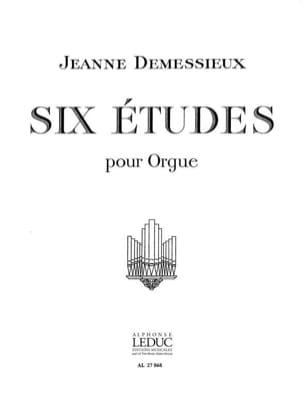 6 Etudes Jeanne Demessieux Partition Orgue - laflutedepan