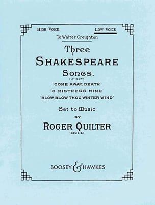 3 Shakespeare Songs Opus 6. Voix Haute Roger Quilter laflutedepan