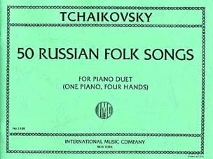50 Russian Folk Songs. 4 Mains TCHAIKOVSKY Partition laflutedepan