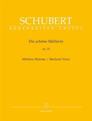 SCHUBERT - Die Schöne Müllerin Opus 25. Voz mediana - Partition - di-arezzo.es