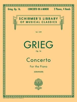 Concerto pour piano la mineur Opus 16 GRIEG Partition laflutedepan