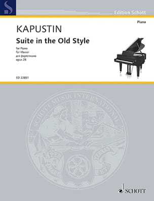 Suite in the Old Style Opus 28 - Nikolai Kapustin - laflutedepan.com