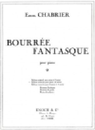 Bourrée Fantasque. 4 Mains - CHABRIER - Partition - laflutedepan.com