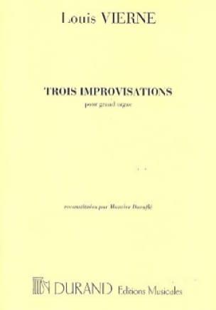 3 Improvisations - VIERNE - Partition - Orgue - laflutedepan.com