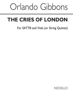The Cries Of London Orlando Gibbons Partition Chœur - laflutedepan