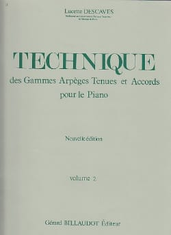 Technique - Volume 2 Lucette Descaves Partition Piano - laflutedepan