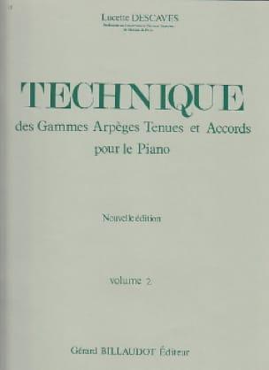 Technique - Volume 2 - Lucette Descaves - Partition - laflutedepan.com