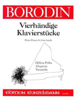 Pièces Pour 4 Mains BORODINE Partition Piano - laflutedepan