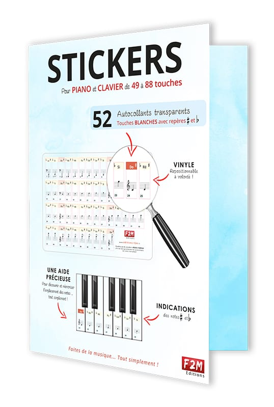 STICKERS Guide pour Piano - Partition - Piano - laflutedepan.com