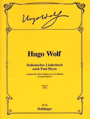 Italienisches Liederbuch Volume 2. Voix Grave Hugo Wolf laflutedepan