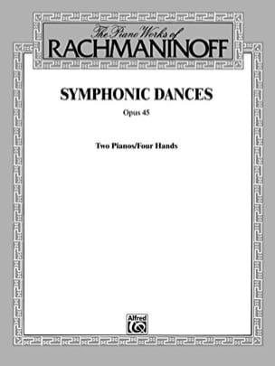 RACHMANINOV - Danzas Sinfónicas Opus 45. 2 Pianos - Partition - di-arezzo.es