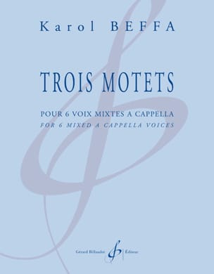 3 motets Karol Beffa Partition Chœur - laflutedepan
