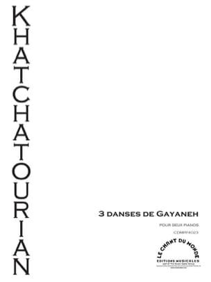3 danses de Gayaneh. 2 pianos KHATCHATURIAN Partition laflutedepan