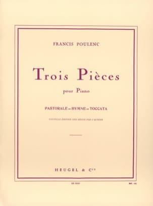 3 Pièces POULENC Partition Piano - laflutedepan