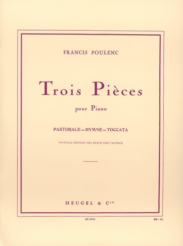 3 Pièces - POULENC - Partition - Piano - laflutedepan.com