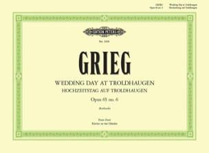 Hochzeitstag Auf Troldhaugen GRIEG Partition Piano - laflutedepan