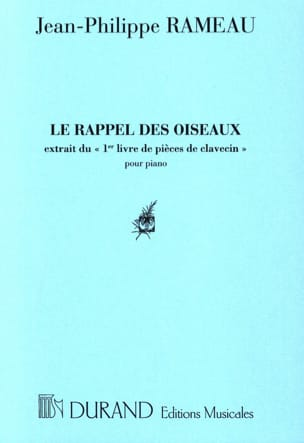 Le Rappel des Oiseaux RAMEAU Partition Piano - laflutedepan