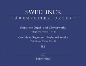 Jan Pieterszoon Sweelinck - Work for organ and keyboard Volume 2-1 - Partition - di-arezzo.com