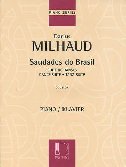 Saudades Do Brazil Opus 67 MILHAUD Partition Piano - laflutedepan