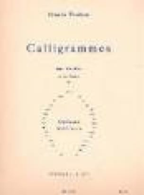 Calligrammes - POULENC - Partition - Mélodies - laflutedepan.com