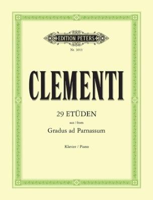Gradus Ad Parnassum CLEMENTI Partition Piano - laflutedepan