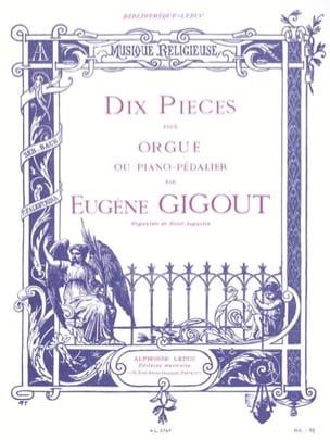 10 Pièces Eugène Gigout Partition Orgue - laflutedepan