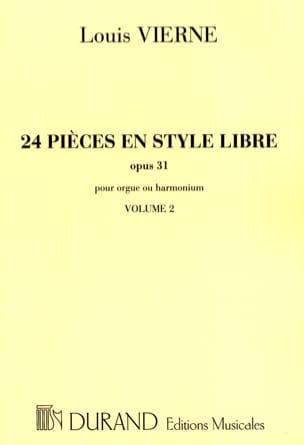 24 Pièces En Style Libre Volume 2 Opus 31 VIERNE laflutedepan