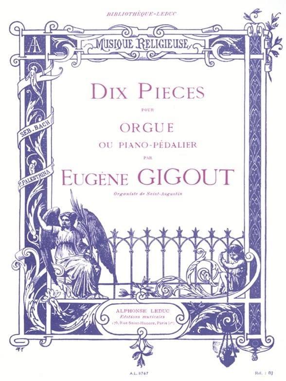 10 Pièces - Eugène Gigout - Partition - Orgue - laflutedepan.com