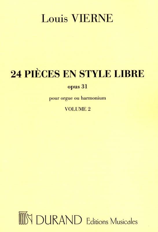 24 Pièces En Style Libre Volume 2 Opus 31 - VIERNE - laflutedepan.com