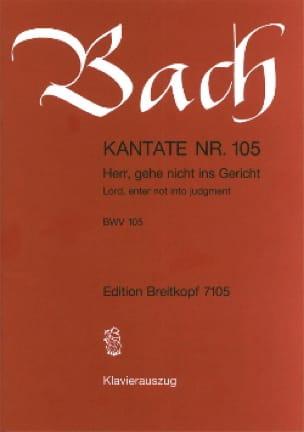 Cantate 105 Herr, Gehe Nicht Ins Gericht - BACH - laflutedepan.com