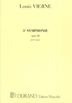 Symphonie N°3 Opus 28 VIERNE Partition Orgue - laflutedepan