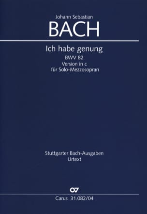 Cantate 82 Ich Habe Genug. Version Mezzo-soprano laflutedepan
